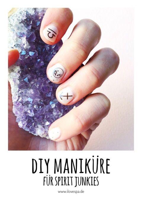 DIY Maniküre für Spirit Junkies - schlichtes Nageldesign für kurze Nägel ganz einfach selber machen