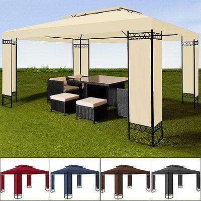 Pavillon 3x4m Festzelt Zelt Partyzelt Gartenpavillon Gartenzelt Garten Pavillion
