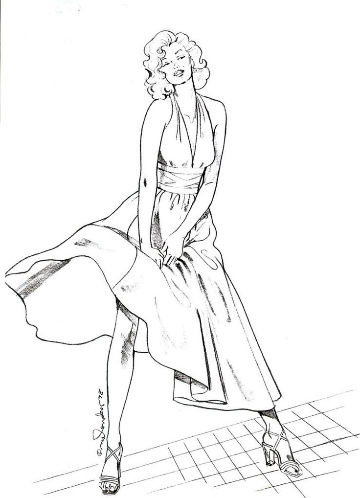 coloring pages marilyn monroe - photo#13