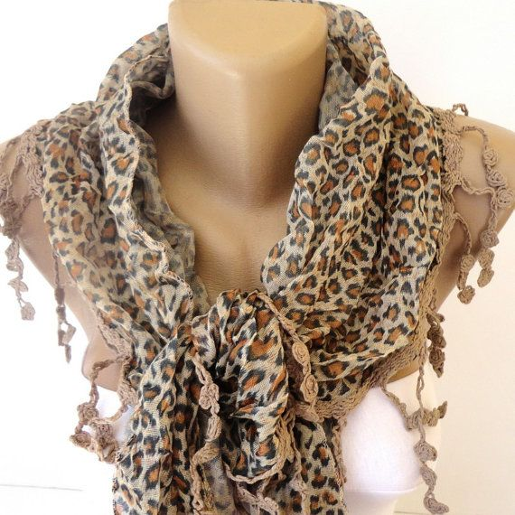 Leopard Scarf Leopard Print Scarf  Luxury Women by scarvesCHIC, $19.50