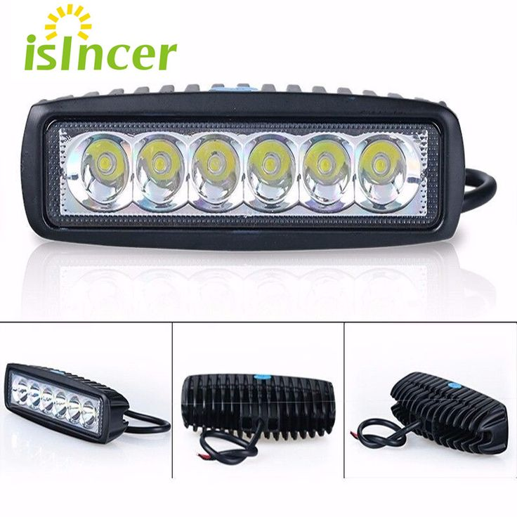 18W Floodlight Light Work LED Bar Driving Fog Lamp Offroad SUV 4WD Car Boat LED Work Light for Toyota Motorcycle Tractor Auto //Price: $12.00      #shopping