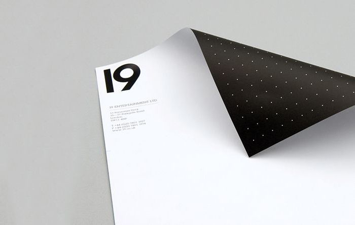 19 - A beautiful example of a minimal design for a letterhead.