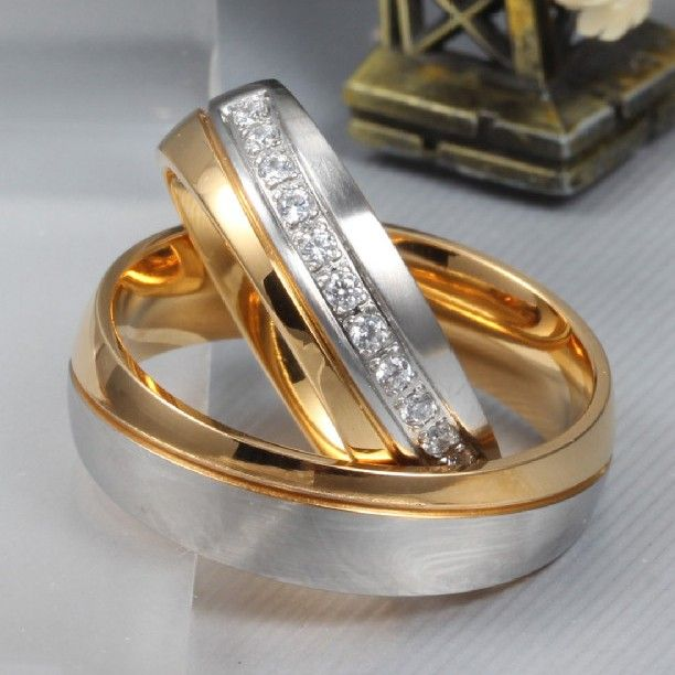 Europe Hot Sale Romantic Gift Couple Rings Cool Wedding Rings