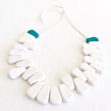 Resinating Necklace - White
