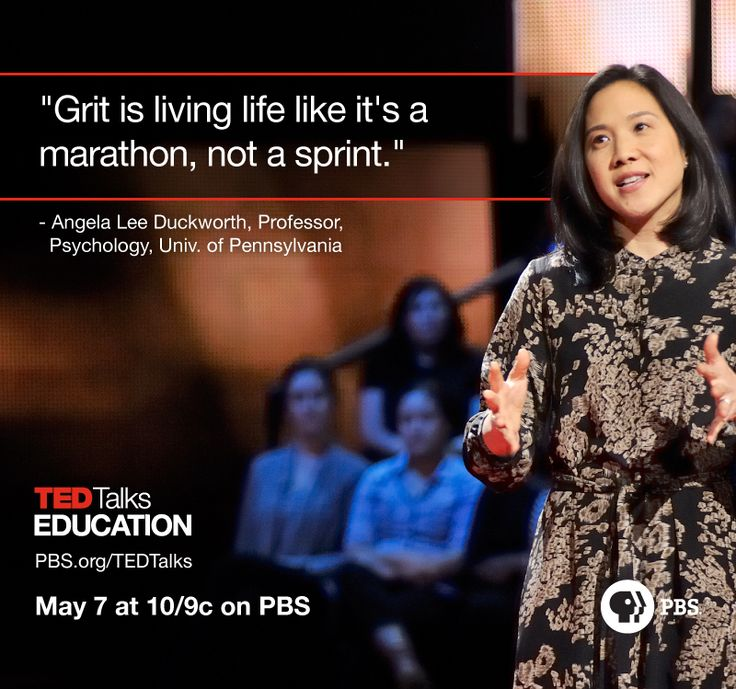 Angela Lee Duckworth talks about the importance of grit during TED Talks…