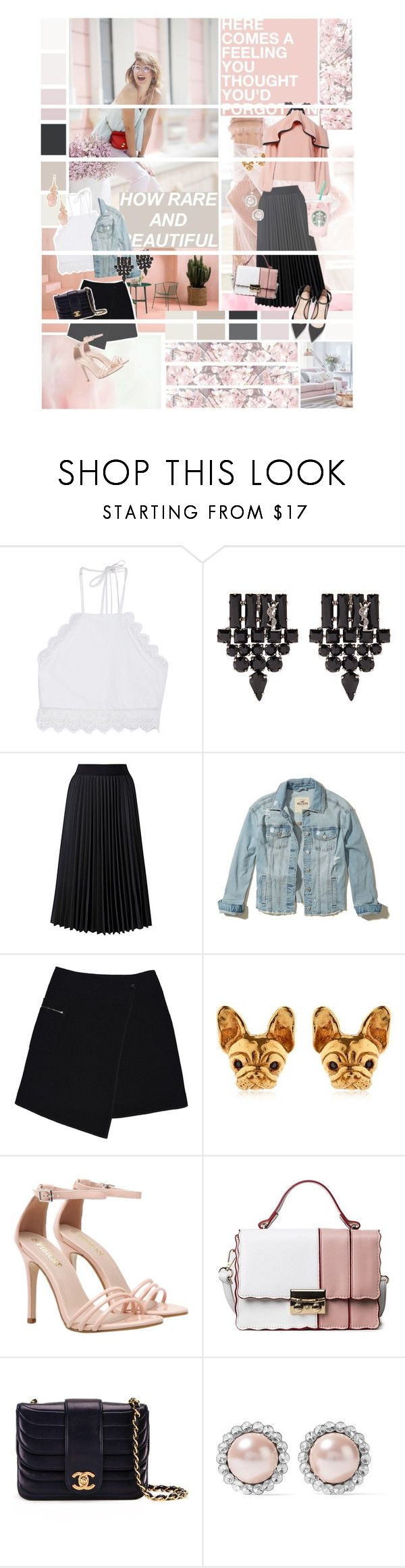 """""""Two is better than One"""" by chassidys ❤ liked on Polyvore featuring Front Row Shop, Yves Saint Laurent, Hollister Co., MARC CAIN, Intermix, Chanel, Miu Miu and Avon"""