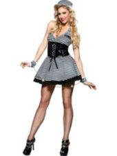 Adult Sexy Jailbird Costume - Party City