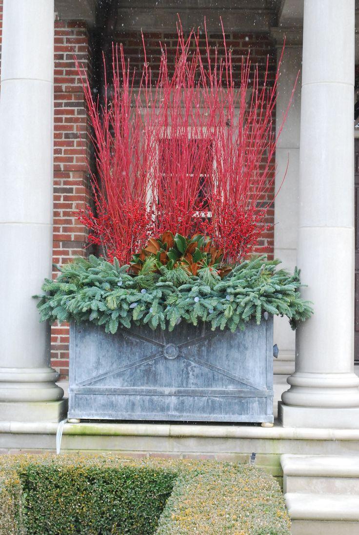 best 25 winter planter ideas on pinterest diy christmas urns