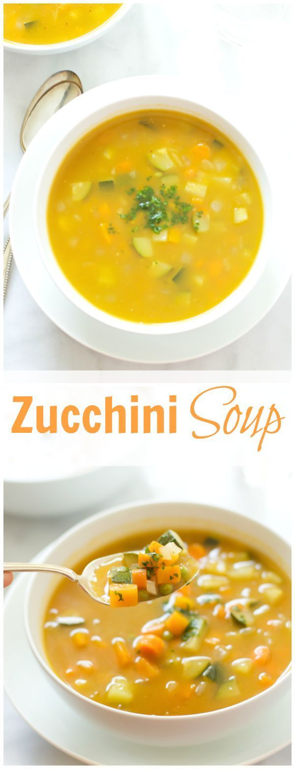 This Zucchini Summer Soup is very flavorful super easy recipe to make. You can add any seasonal veggies and you will end up with a delicious meal! primaverakitchen.com