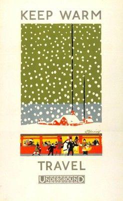 A vintage London Underground poster
