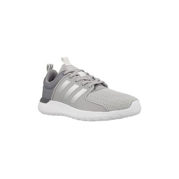 adidas Cloudfoam Lite Racer W Shoes (Trainers) (375 PEN) ❤ liked on Polyvore featuring shoes, sneakers, grey, trainers, women, adidas shoes, adidas footwear, adidas sneakers, gray shoes and adidas