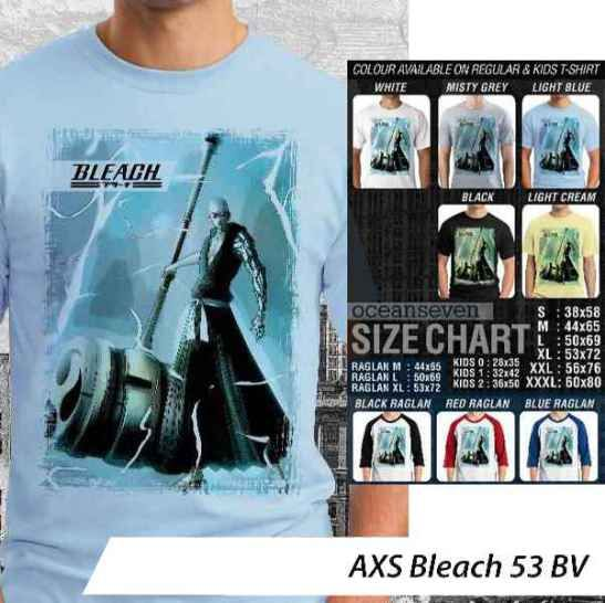 Kaos Film Anime Bleach, Kaos Anak Anime Bleach, Kaos Komik Bleach, Kaos Anime Bleach Terbaru