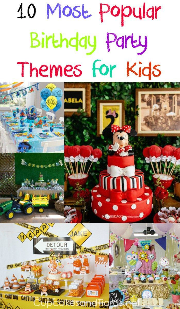 10 MOST POPULAR BIRTHDAY PARTY THEMES FOR KIDS.  Cake, balloons and party favours, we have you covered.  This years most popular birthday party themes all in one place.