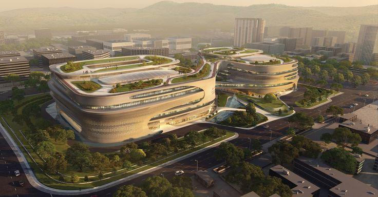 Zaha Hadid Architects' Infinitus Plaza Breaks Ground in Guangzhou, China