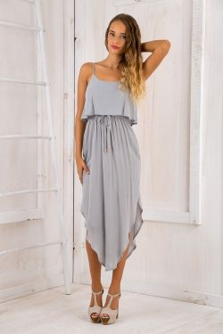 What I want relaxed maxi dress - Dusty mint