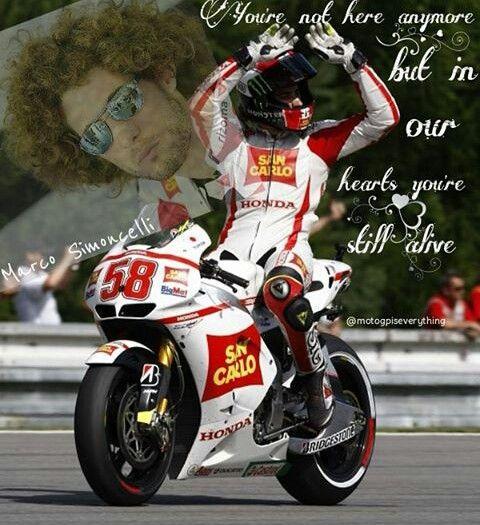 Marco Simoncelli #58 RIP