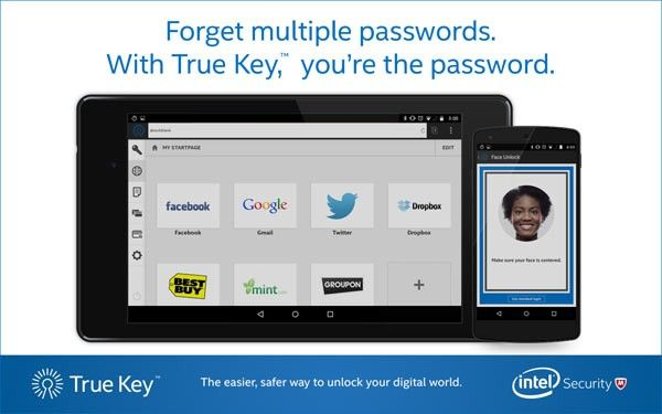 Intel Security: New Consumer Security Services Include True Key App by Intel Security to Keep Connected Consumers Safe from Online Threats: Available Now