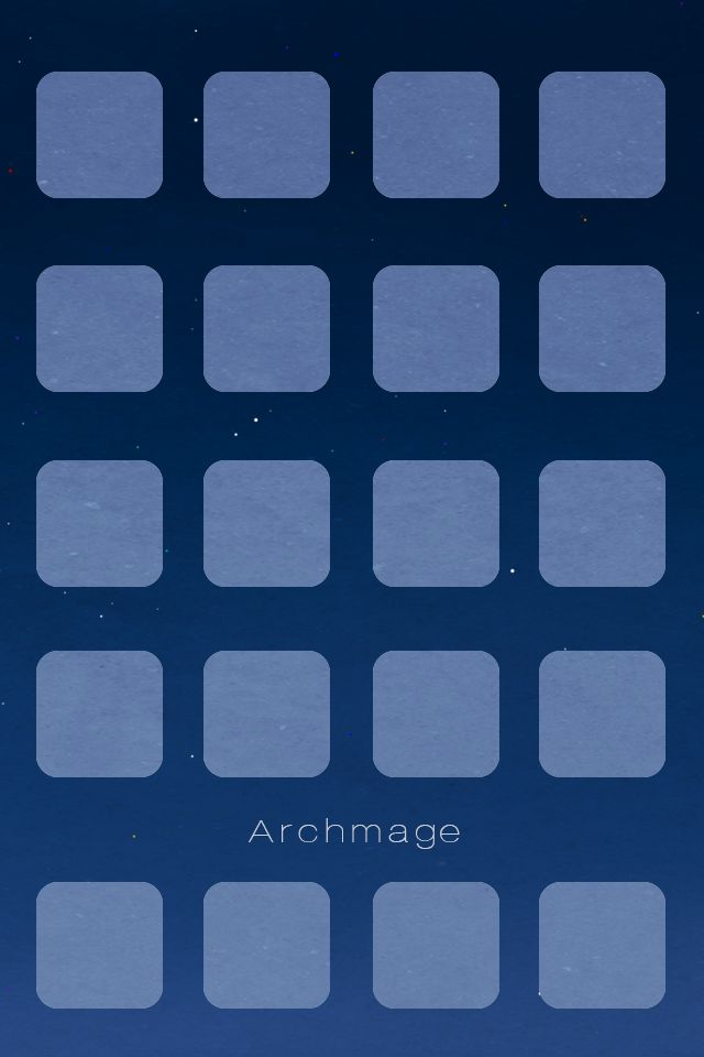 Archmage Official iOS Background - Blue Boxes by archmagemusic.deviantart.com on @DeviantArt