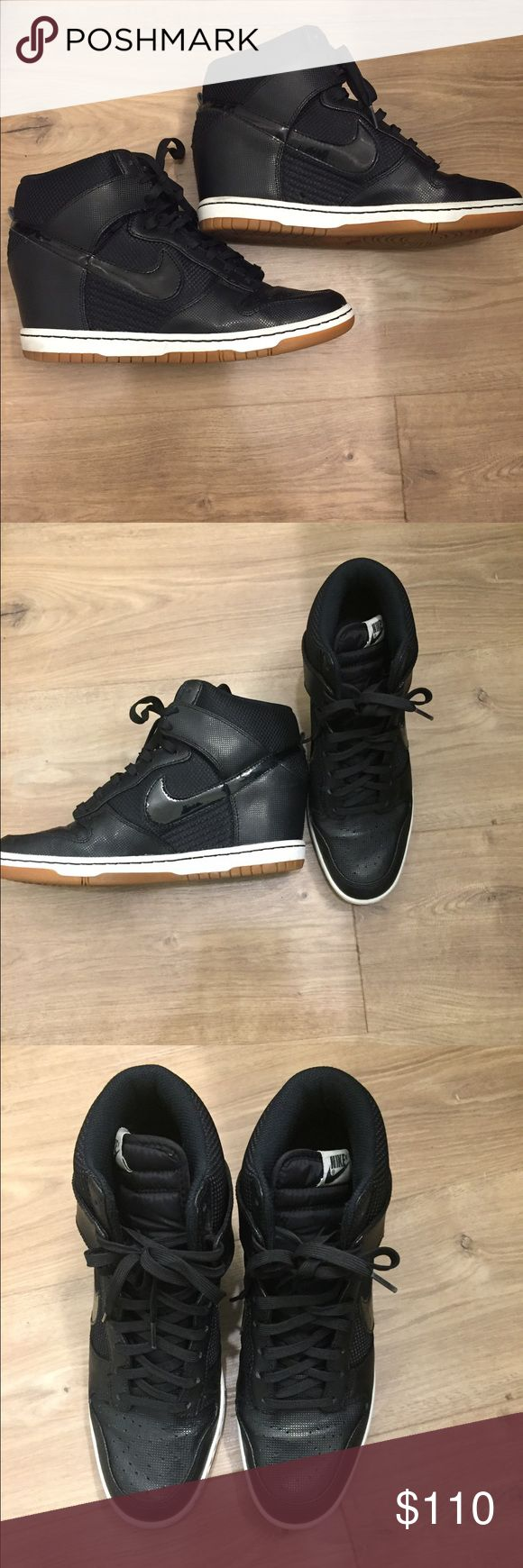 Nike Dunk Sky Hi Classic Nike Dunks with a a gum bottom and wedge! Super comfortable shoes, only worn a handful of times. Nike Shoes Sneakers