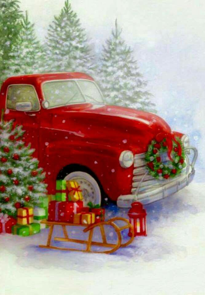 Red trucks and Christmas 240 best Christmas