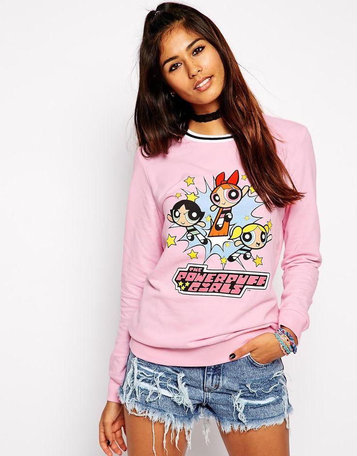 ASOS Sweatshirt with Powerpuff Girl Print
