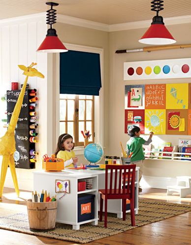 What a great way to excite children in this vibrant playroom