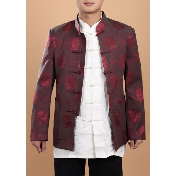 China has a very rich history of beautiful fashion. I particular think this knot-toggle style of fastening clothes together could become popular as too could the collars often employed. (Tang style Silk Coat Chinese Traditional Clothes For Men 0948-1)