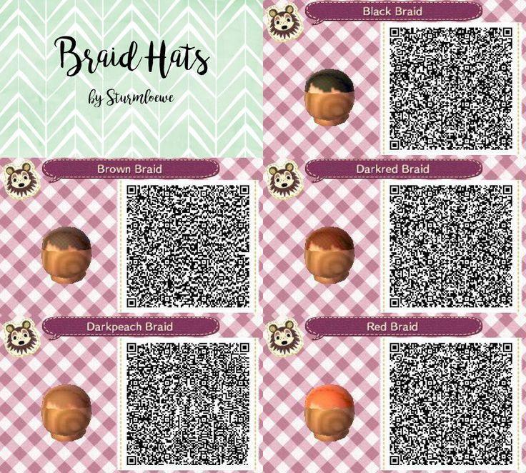 Animal Crossing New Leaf Qr Code Cute Braided Hair Braid Hat Fashion Red Lightbr Acnl Clothing Animal Crossing Qr Animal Crossing Hair Animal Crossing