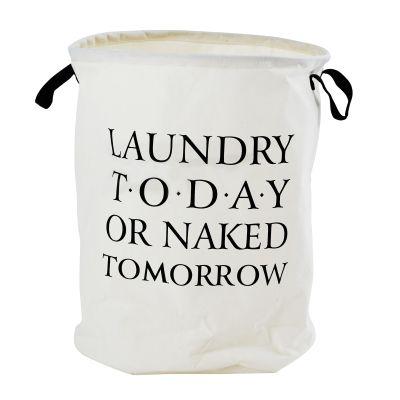 Pyykkikori Laundry, 40x50 cm, Valkoinen - Kodinsisustusta - kodintekstiilejä - Hemtex