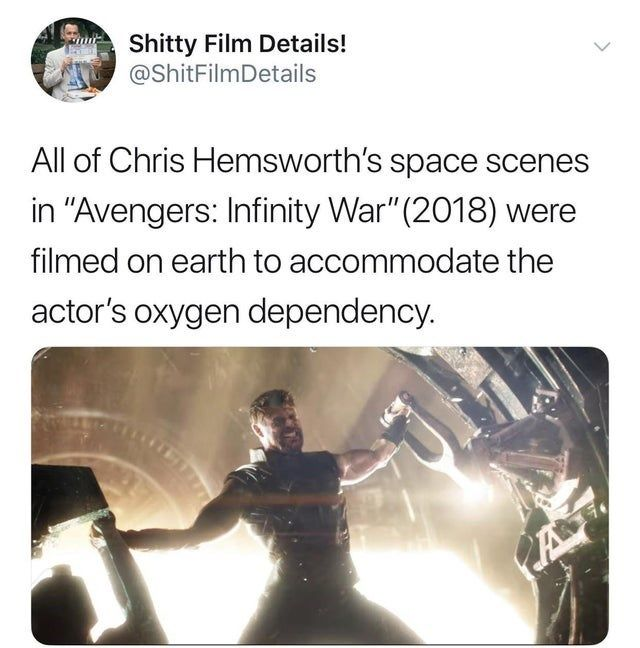 27 Dumb But Clever Jokes That Are Technically True Chris Hemsworth Funny Pictures Hemsworth
