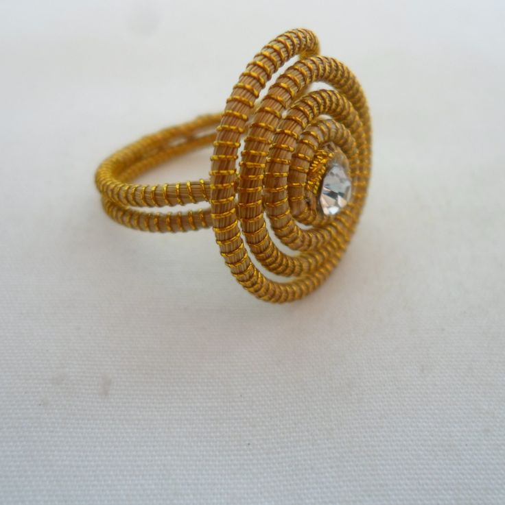 Antonio Bijuterias/ Bijuterias Artesanais: Anel de Capim Dourado Numero 22 Ref 2164