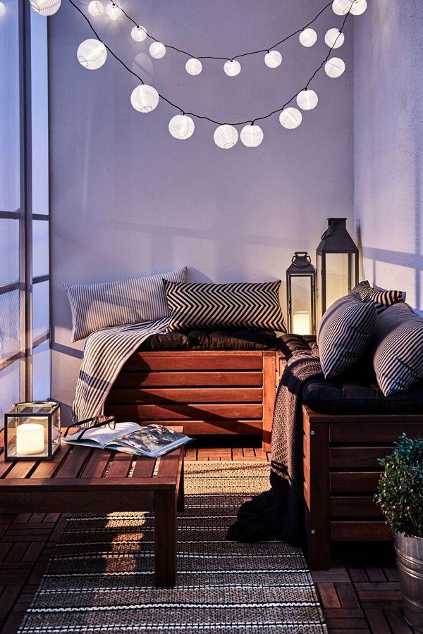 ÄPPLARÖ Storage bench, outdoor, brown stained brown