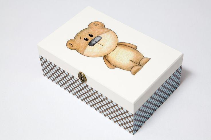 Pudełko 'Miś' w White Blue na DaWanda.com