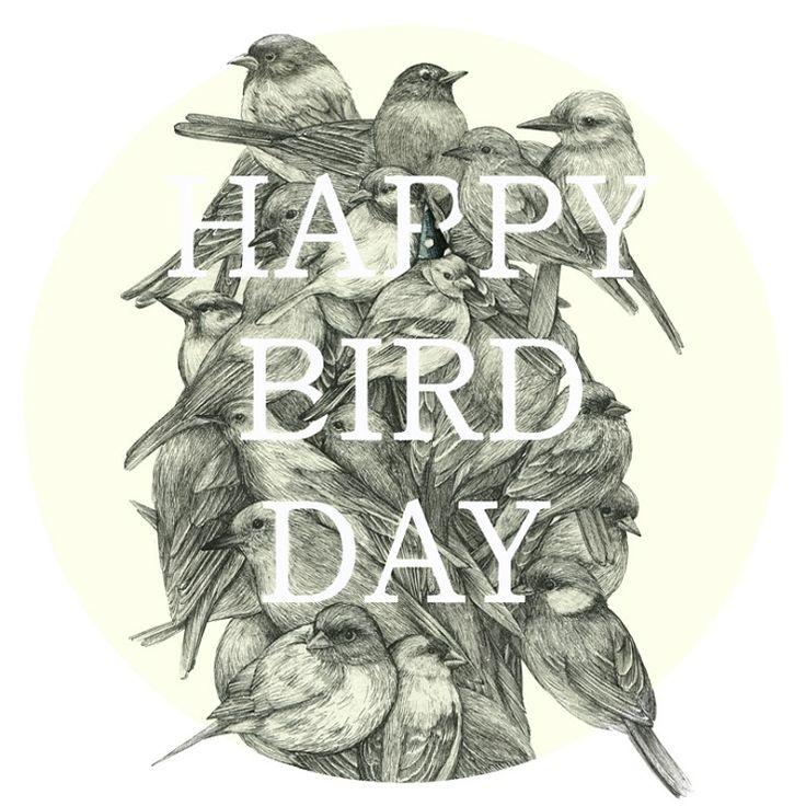[펜화,typo] happy birdday : 네이버 블로그