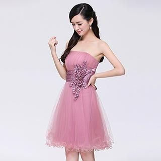 Buy 'Beautiful Wedding – Strapless Rosette Mini Party Dress' with Free Shipping at YesStyle.com.au. Browse and shop for thousands of Asian fashion items from China and more!