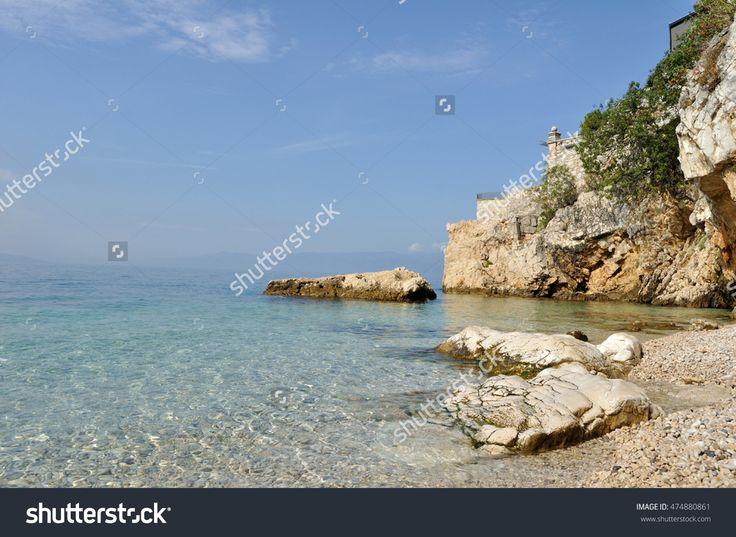 Pecine Beach,in Rijeka,Croatia