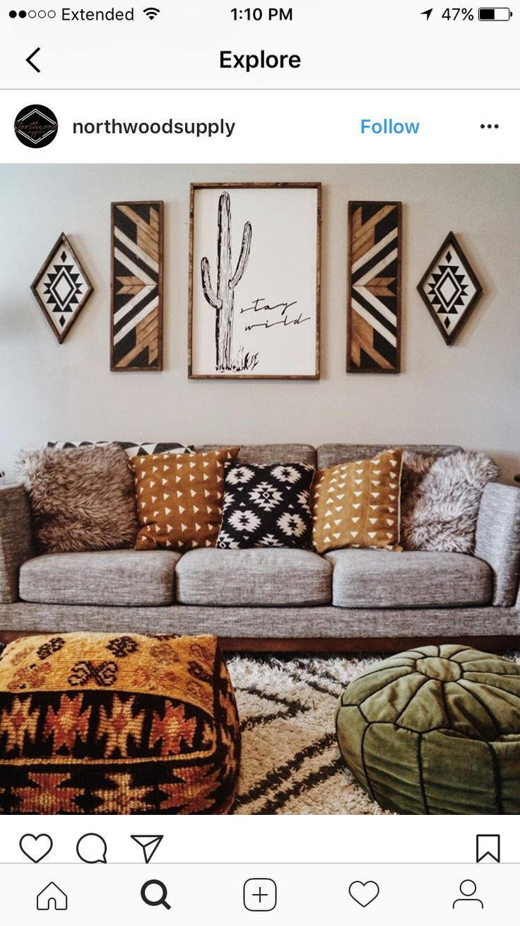 How To Win The Best Of Western Style Home Decoration With Simple Tricks Home Decor Apartment Decor Natural Home Decor Home goods living room wall art