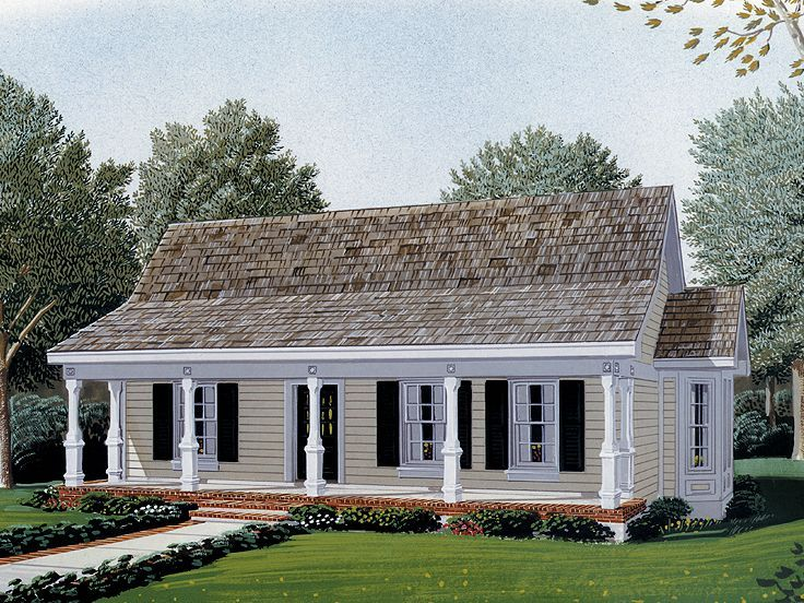 Nice Little Guest House. Eplans Cottage House Plan   One Bedroom Cottage    829 Square Feet And 1 Bedroom From Eplans   House Plan Code