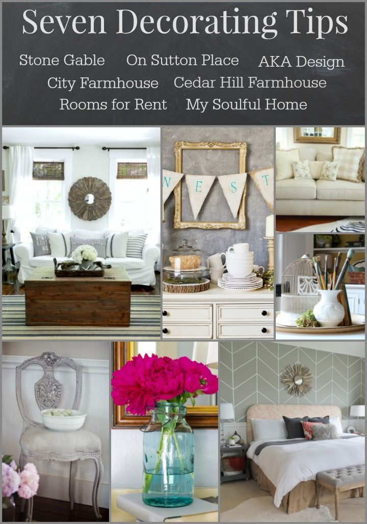 Seven Best Decorating Tips from bHome bloggers - all you need to know to create a beautiful home!