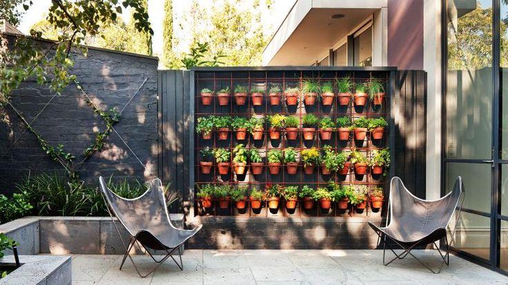 vertical-garden-plant-pots-outdoor-area