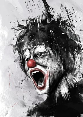 Poster   THE CLOWN von Balazs Solti   #poster #design #illustration #balazssolti #bsolti #art #artwork #drawing #clown