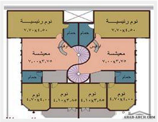 خريطة فيلا دوبلكس طابقين مساحه الارض 400 متر مربع House Plans How To Plan House Design