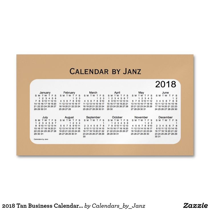 2018 Tan Business Calendar by Janz Magnet