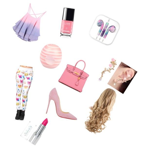 Pink by artur-bauer on Polyvore featuring polyvore fashion style Christian Louboutin Hermès River Island