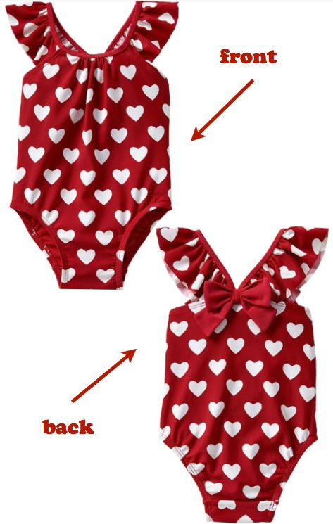New Baby Gifts: Printed Flutter One-Piece Bathing Suit for Baby Girls @ Baby Gap