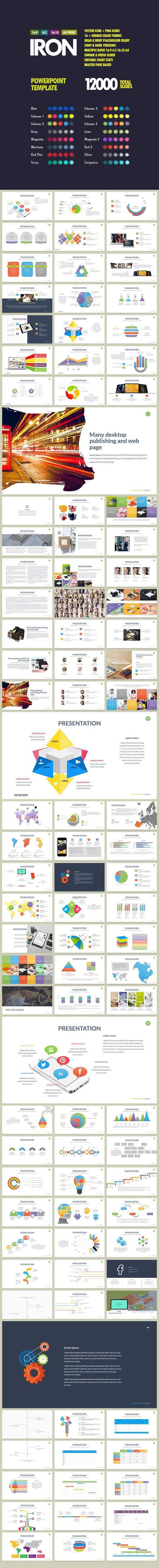 Iron Presentation Powerpoint — Powerpoint PPTX #creative #entrepreneur • Download ➝ https://graphicriver.net/item/iron-presentation-powerpoint/18813021?ref=pxcr