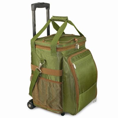 Picnic Time 45 Can Avalanche Rolling Picnic Cooler Color: Pine with Lattice Stripe