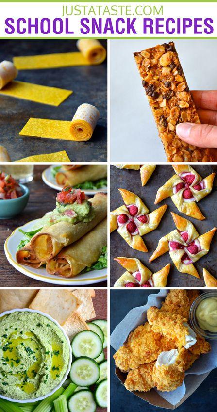 20+ School Snack Recipes for Kids #recipe #backtoschool