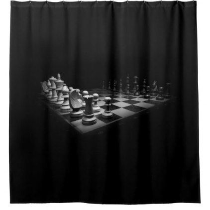 Black and  White Chessboard Custom Shower Curtain - shower gifts diy customize creative