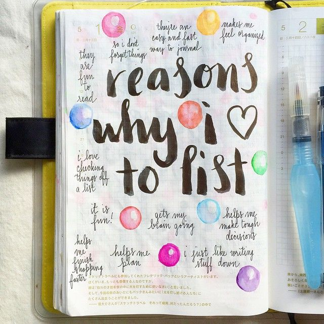 journal page idea... reasons why I <3 to list